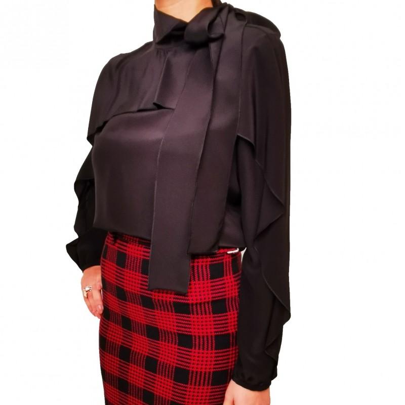 RED VALENTINO - Silk shirt - Black