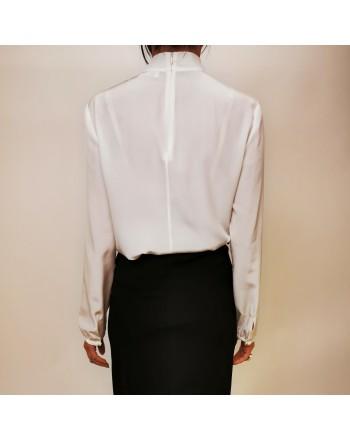 RED VALENTINO - Crepe de chine silk shirt - Ivory