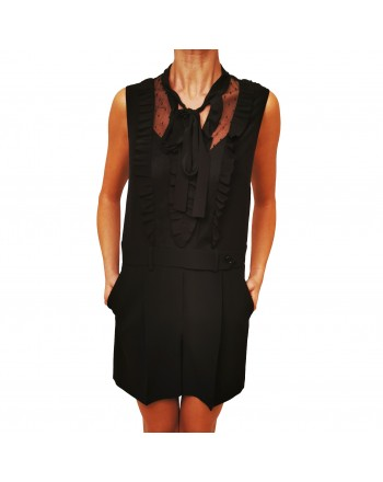 RED VALENTINO - Tutina in frisottino stretch - Nero
