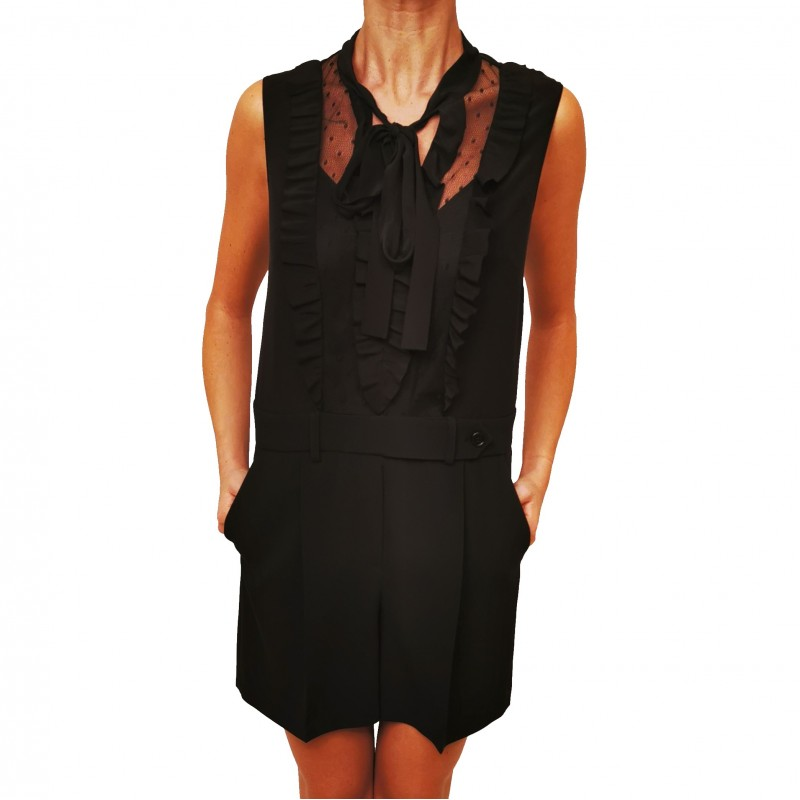 RED VALENTINO - Stretch frisottine jumpsuit - Black