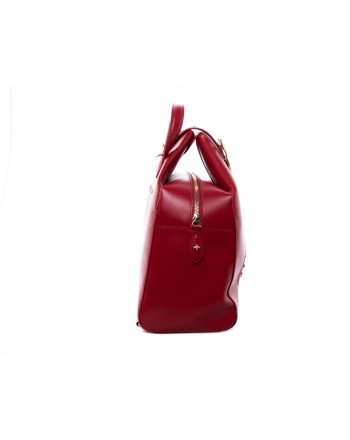 PINKO - Leather and Silk ALKAN Backpack - Red
