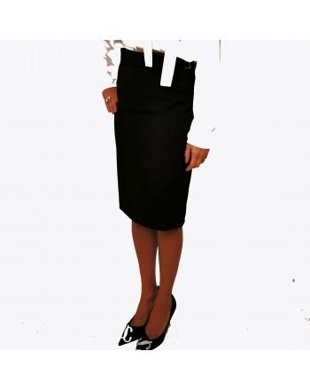 RED VALENTINO -  Stretch fabric skirt