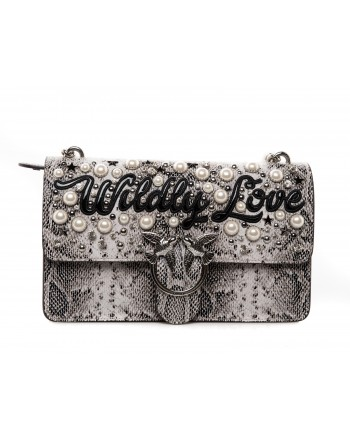 PINKO - Borsa Wildly Love - Beige