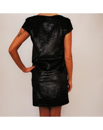 LOVE MOSCHINO - Lurex Dress - Black/Lurex