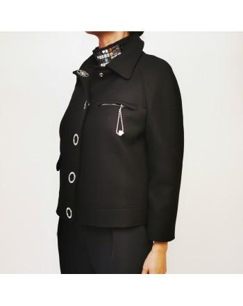LOVE MOSCHINO - Logo Buttons Jacket - Black
