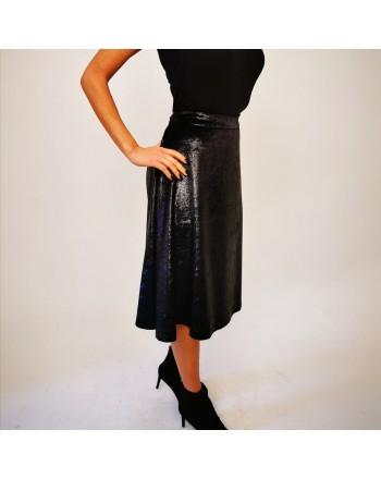 LOVE MOSCHINO - Lurex  Skirt - Black/Lurex