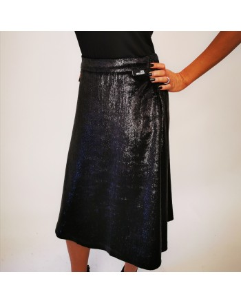 LOVE MOSCHINO - Lurex  Skirt - Black/Lurex
