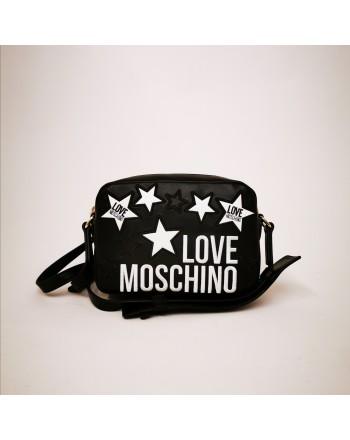 LOVE MOSCHINO - Borsa in pelle con stelle trapuntate - Nero
