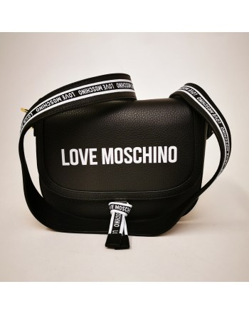 LOVE MOSCHINO - Leather shoulder bag - Black