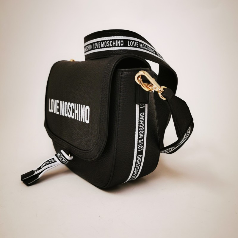 LOVE MOSCHINO - Borsa a spalla in pelle - Nero