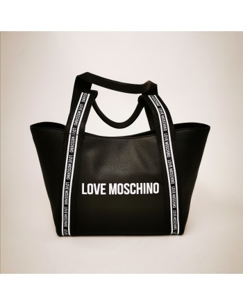 LOVE MOSCHINO - Borsa Shopping in pelle - Nero