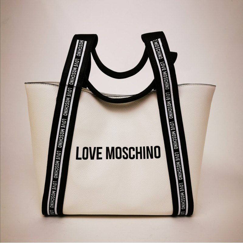LOVE MOSCHINO - Borsa Shopping in pelle - Bianco
