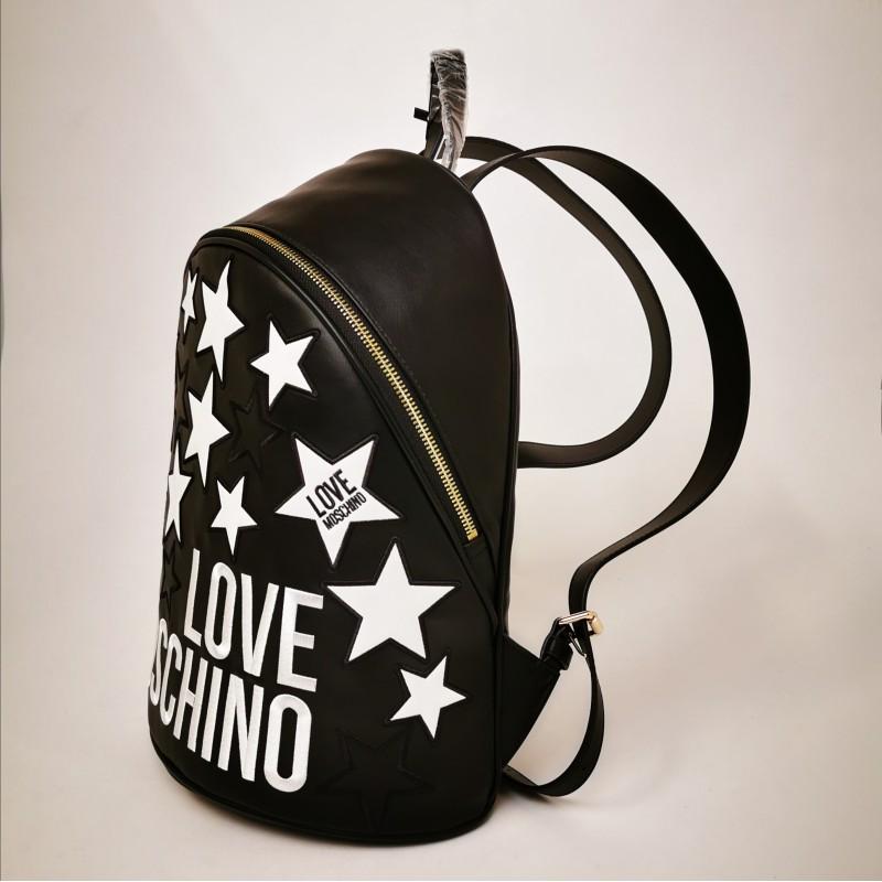 LOVE MOSCHINO - Zaino in ecopelle con stelle trapuntate - Nero