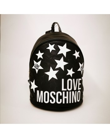 LOVE MOSCHINO - Faux Leather backpack with stars - Black