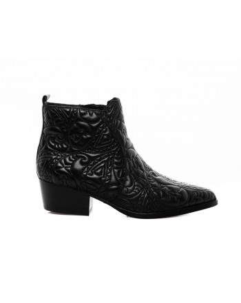 PINKO -Leather Boot ASSISI - Black