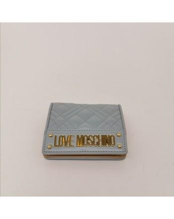 LOVE MOSCHINO - Portafogli con Logo Metallico - Nuvola