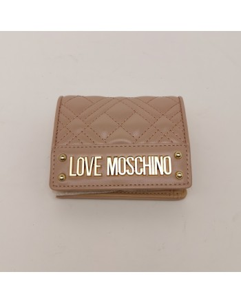 LOVE MOSCHINO - Metallic Logo Wallet - Pink