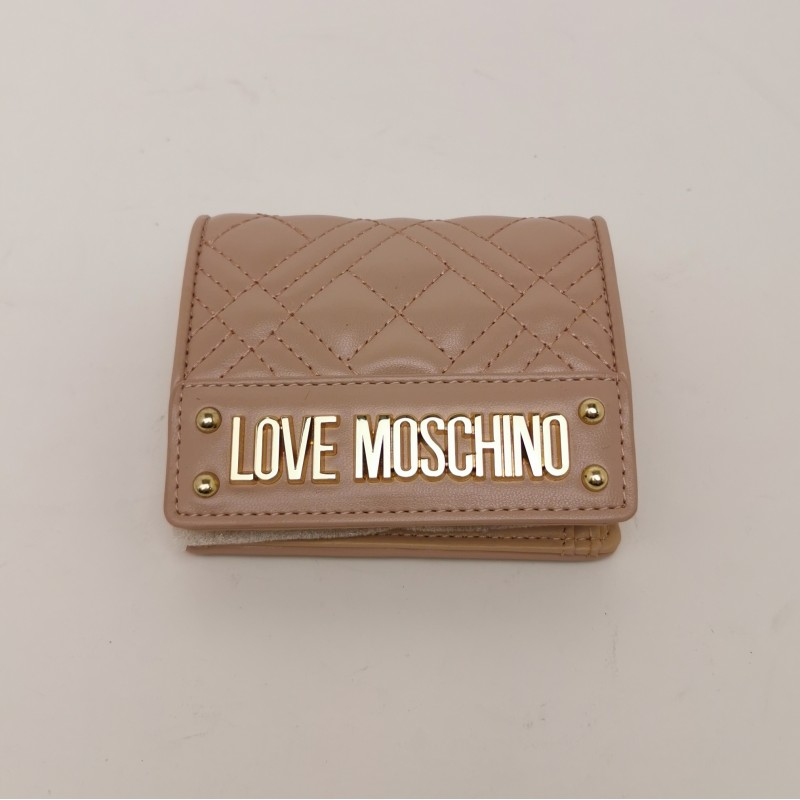 LOVE MOSCHINO - Metallic Logo Wallet - Pink