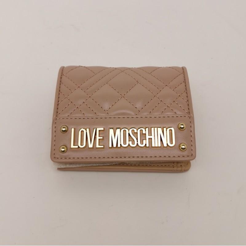 LOVE MOSCHINO - Portafogli con Logo Metallico - Rosa