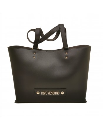 LOVE MOSCHINO - Borsa Shopping in pelle - Nero