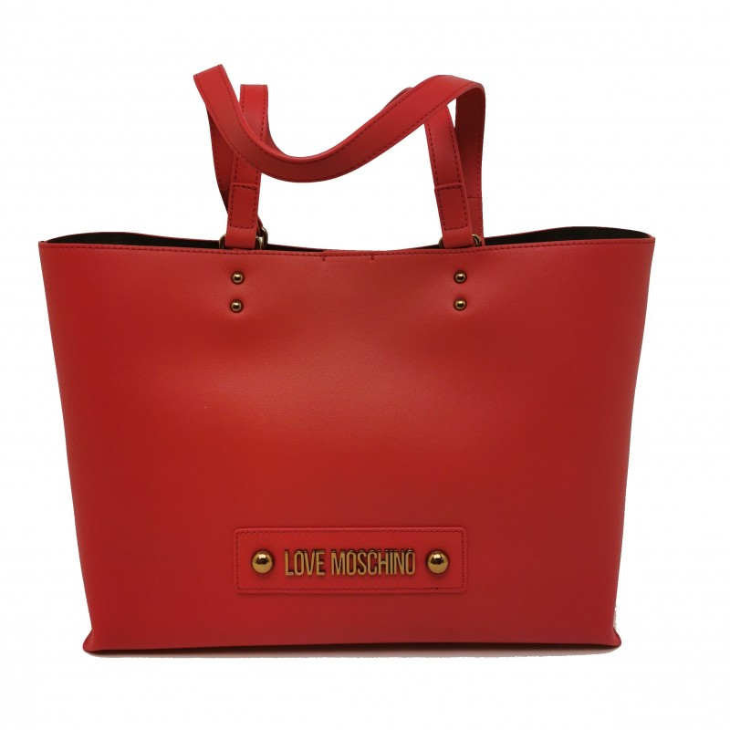 LOVE MOSCHINO - Borsa Shopping in pelle - Rosso