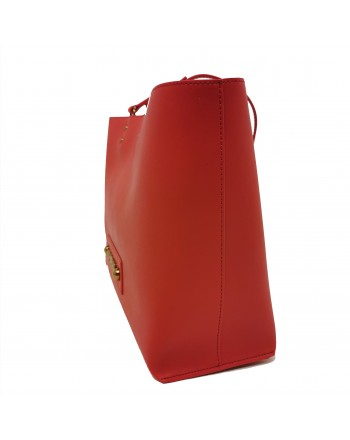 LOVE MOSCHINO - Shopping leather bag - Rosso
