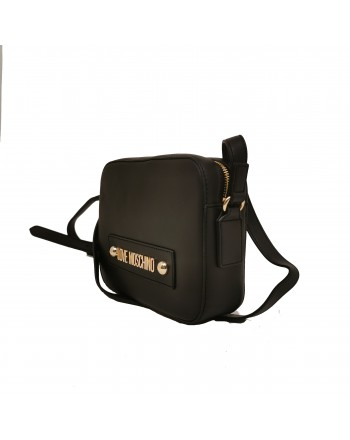 LOVE MOSCHINO - Leather bag with shoulder strap - Black