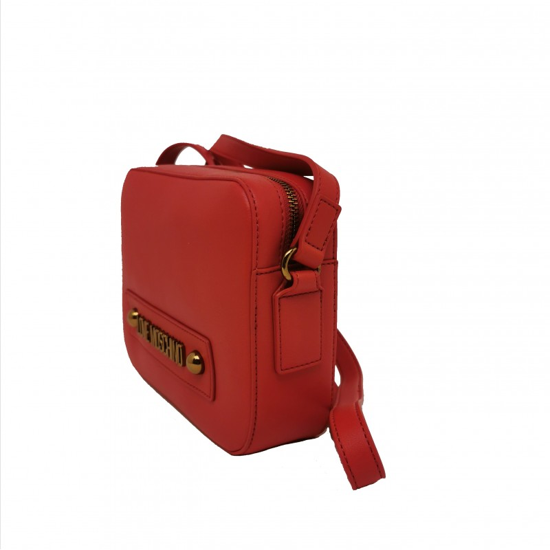 LOVE MOSCHINO - Leather bag with shoulder strap - Red