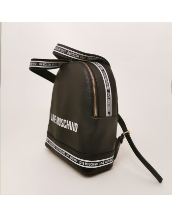 LOVE MOSCHINO - Faux leather backpack - Black