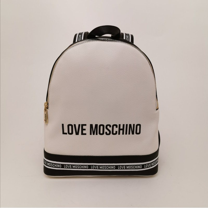LOVE MOSCHINO - Faux leather backpack - White
