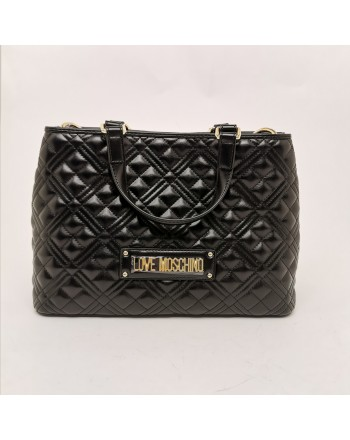LOVE MOSCHINO -  Big quilted eco-leather bag