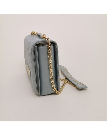LOVE MOSCHINO - Quilted Bag with Metallic Chain - Nuvola