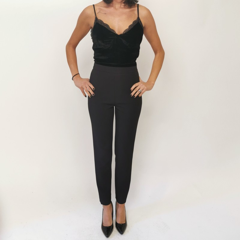 MICHAEL BY MICHAEL KORS - Jumpsuit with velvet top - Black
