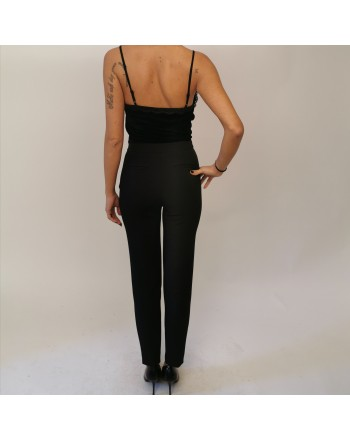 MICHAEL BY MICHAEL KORS - Jumpsuit with velvet top - Black
