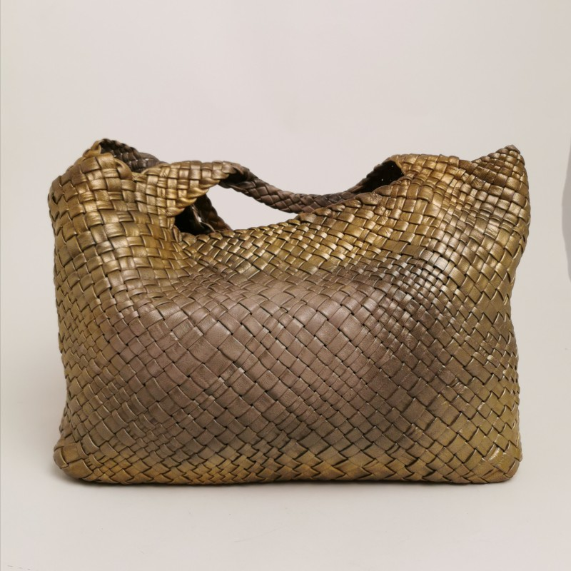 FALOR -  Plaited leather bag