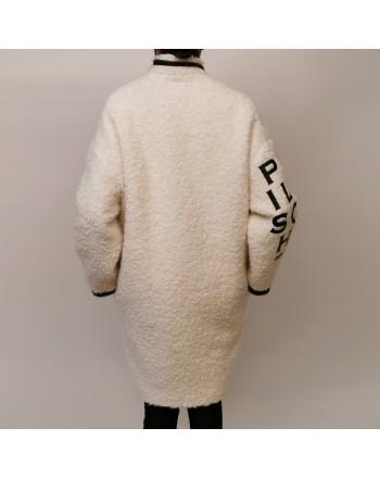 PHILOSOPHY di LORENZO SERAFINI - Wool and Alpaca Jacket with Logo- Ivory