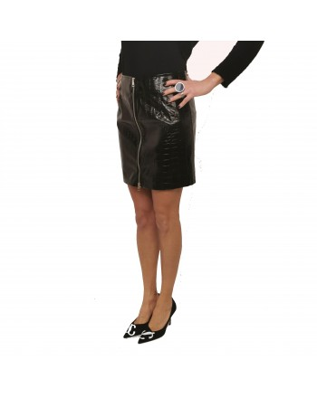 PINKO - OPINION eco-leather skirt - Black