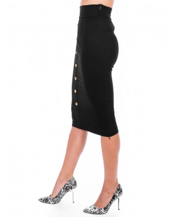 PINKO - Full Milano  CEROTTO Skirt - Black