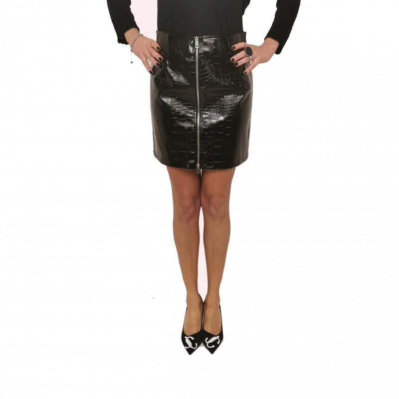 PINKO - OPINION eco-leather skirt - Black