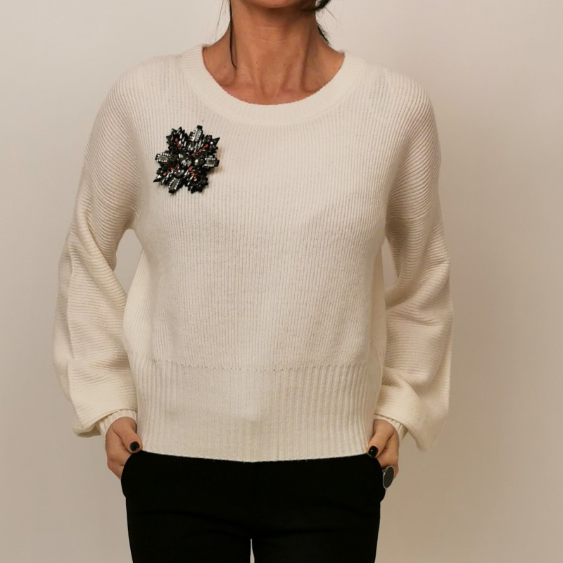 PINKO - Wool and Cashmere Knit CHISSA - White