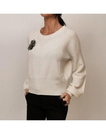 PINKO - Wool and Cashmere Knit CHISSA - White