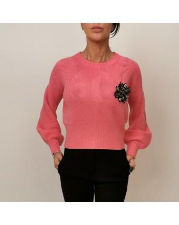 PINKO - Maglia in Lana e Cashmere CHISSA - Pink