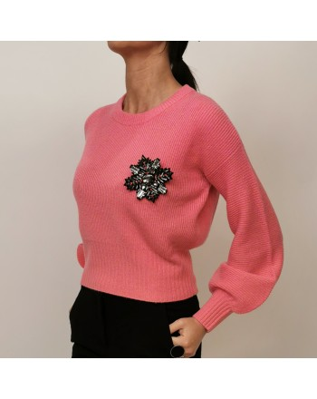PINKO - Wool and Cashmere Knit CHISSA - Blue