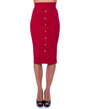 PINKO - Full Milano  CEROTTO Skirt - Red