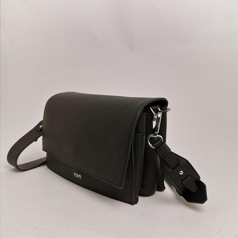 TOD'S -  Black Calfskin shoulder bag