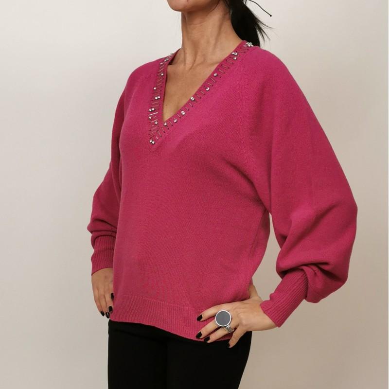 PINKO - MOONLIGHT wool sweater - Fuchsia