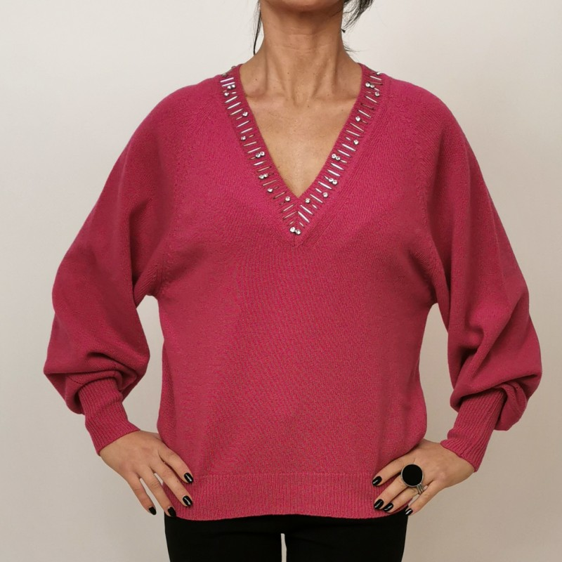 PINKO - MOONLIGHT wool sweater - Fuchsia