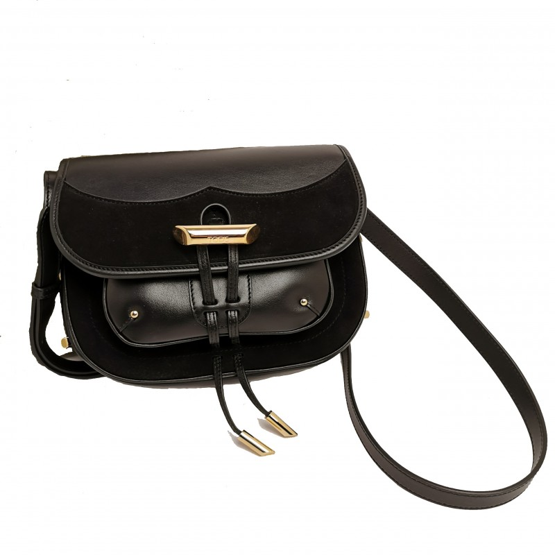TOD'S - MICRO shoulder bag in leather - Black