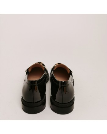 TOD'S - Loafers in patent leather and ponyskin effect leather - Black/Gold
