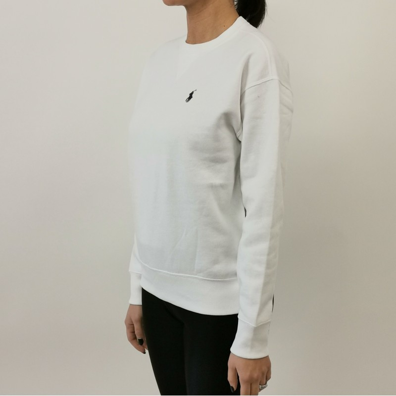 POLO RALPH LAUREN - Cotton sweater with logo - White